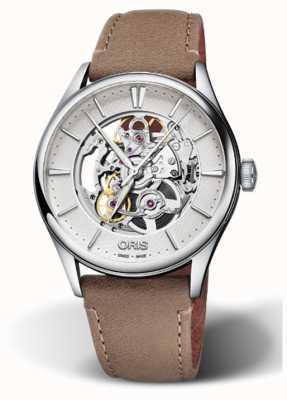 ORIS Мужские часы Artelier Skeleton швейцарские 01 734 7721 4051-07 5 21 32FC