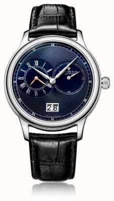 Dreyfuss Мужские кварцевые часы с черным кожаным ремешком DGS00120/05