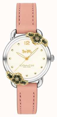 Coach | женские часы delancey | розовая кожа и нержавеющая сталь | 14503239