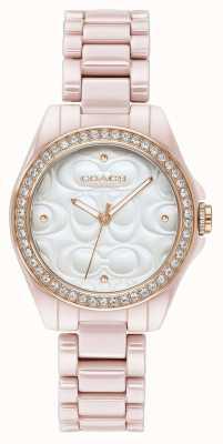 Coach | женские современные спортивные часы | розовый с белым лицом | 14503256