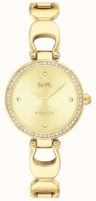 Coach | женские парковые часы | золотой ремешок золотой лицевой | 14503171