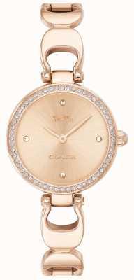 Coach | женские парковые часы | ремешок из розового золота лицо из розового золота | 14503172