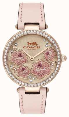 Coach | женские часы парк | розовый кожаный ремешок | 14503285