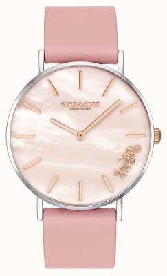 Coach | женские часы Perry | розовый кожаный ремешок | 14503244