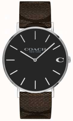 Coach | мужские часы чарльз | коричневый кожаный ремешок | 14602156