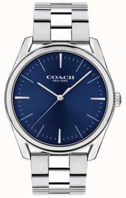 Coach | мужские современные роскошные часы | циферблат из нержавеющей стали синий | 14602401