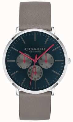 Coach | мужские варик часы | хронограф бежевый ремешок черный циферблат | 14602390