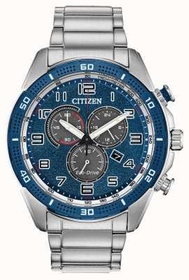 Citizen Для экодрайва требуется мужской синий циферблат wr100 AT2440-51L