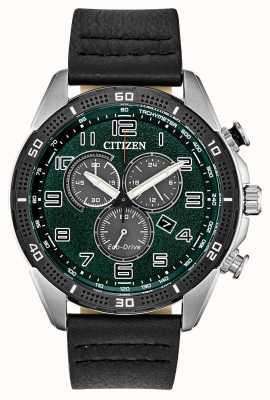 Citizen Для экодрайва требуются мужские зеленые кожаные циферблаты wr100 AT2441-08X