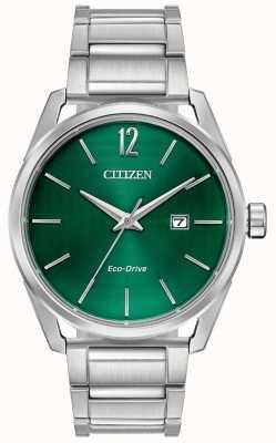 Citizen Мужской эко-драйв металлический браслет зеленый циферблат BM7410-51X