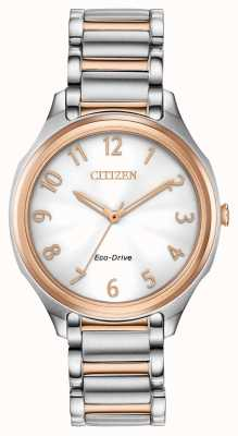 Citizen Женский эко-драйв двухцветный металлический браслет EM0756-53A