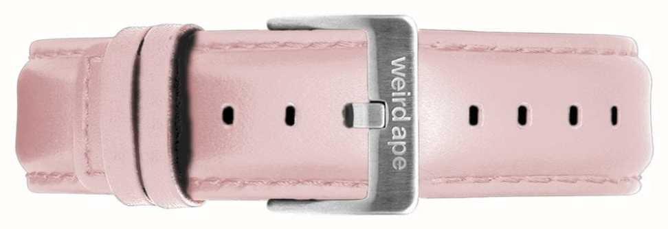 Weird Ape | 16мм кожаный ремешок пастельно-розовый серебряная стальная пряжка | ST01-000053