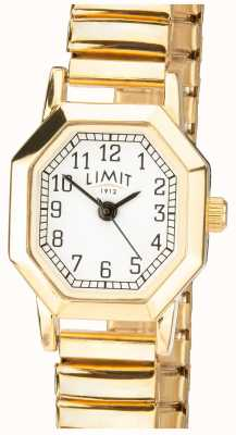 Limit | женский золотой расширяемый браслет | белый циферблат | 6498