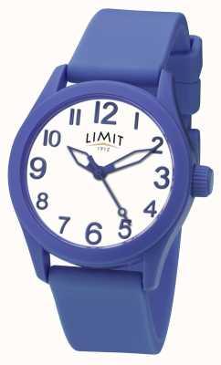 Limit | синий силиконовый ремешок | белый циферблат | 5719