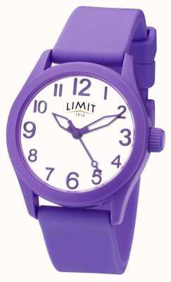 Limit | фиолетовый силиконовый ремешок | белый циферблат | 5722