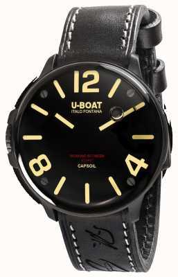 U-Boat Capsoil dlc электромеханика черный кожаный ремешок 8108/A