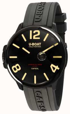 U-Boat Capsoil dlc электромеханика черный резиновый ремешок 8108/A