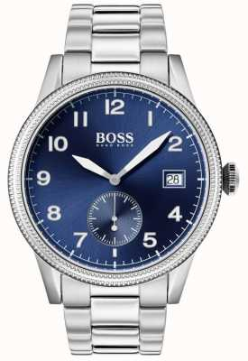 BOSS | мужские наручные часы | нержавеющая сталь | синий циферблат | 1513707