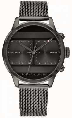 Tommy Hilfiger | мужские черные сетки часы черный циферблат | 1791597