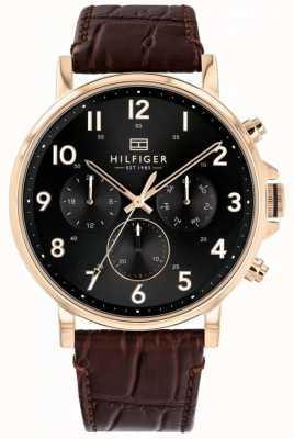 Tommy Hilfiger | мужские коричневые кожаные часы daniel | 1710379