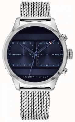 Tommy Hilfiger | мужские часы из нержавеющей стали с сеткой | синий циферблат | 1791596
