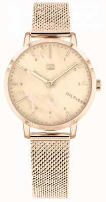 Tommy Hilfiger | женские часы из розового золота с лилиями | 1782042
