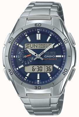 Casio | мужские радиоуправляемые | титановые часы с хронографом | WVA-M650TD-2A2ER