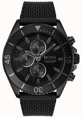 Boss | мужское издание океана | черный циферблат | черный ремешок | 1513699