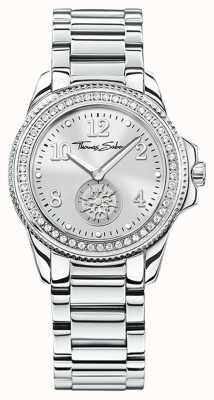 Thomas Sabo | женские часы Glam & Soul из нержавеющей стали | серебряный циферблат | WA0235-201-201-33