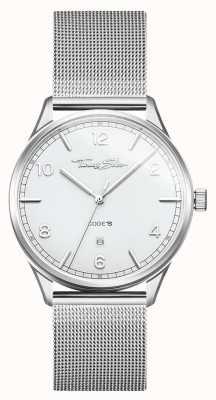 Thomas Sabo | серебряный браслет из нержавеющей стали | белый циферблат | WA0338-201-202-40