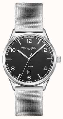 Thomas Sabo | серебряный браслет из нержавеющей стали | черный циферблат | WA0339-201-203-40