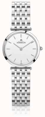 Michel Herbelin | женские | эпсилон | браслет из нержавеющей стали | белый циферблат | 17116/B11