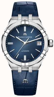 Maurice Lacroix Aikon автоматический синий циферблат синий кожаный ремешок AI6007-SS001-430-1