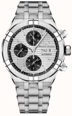 Maurice Lacroix Aikon автоматический хронограф панда циферблат из нержавеющей стали AI6038-SS002-132-1