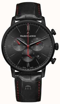 Maurice Lacroix Eliros черный кожаный ремешок с черным ПВХ покрытием EL1098-PVB01-310-1