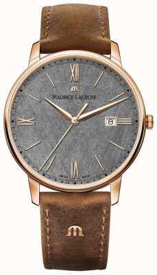 Maurice Lacroix Циферблат Eliros с фактурной циферблатом коричневый кожаный ремешок EL1118-PVP01-210-1