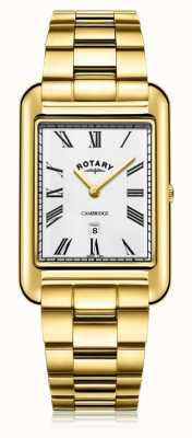 Rotary | позолоченный браслет мужской | белый циферблат | GB05283/01