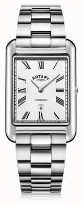 Rotary | мужской браслет из нержавеющей стали | белый циферблат | GB05280/01