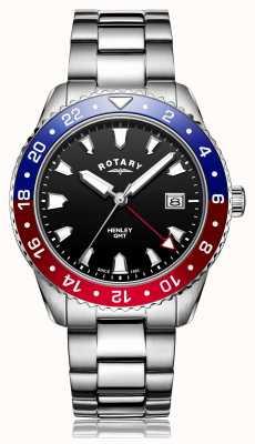Rotary | мужской браслет из нержавеющей стали | черный циферблат | GB05108/30