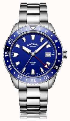 Rotary | мужской браслет из нержавеющей стали | синий циферблат | GB05108/05