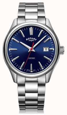 Rotary | мужской браслет из нержавеющей стали | синий циферблат | GB05092/53