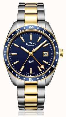 Rotary | мужские | двухцветный ремешок из нержавеющей стали | синий циферблат | GB05296/05