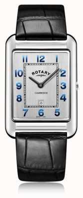 Rotary | гентс черный кожаный ремешок дата | GS05280/70