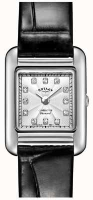 Rotary | женские черные кожаные часы | LS05285/70/D