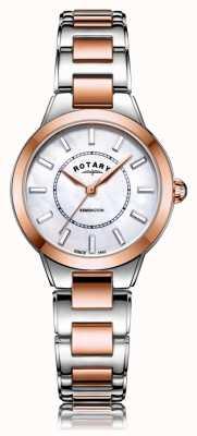 Rotary | женский двухцветный браслет из розового золота | LB05377/41