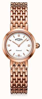 Rotary | женский браслет из розового золота | LB00901/70/D