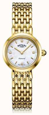 Rotary | женский золотой браслет | перламутровый циферблат LB00900/41/D