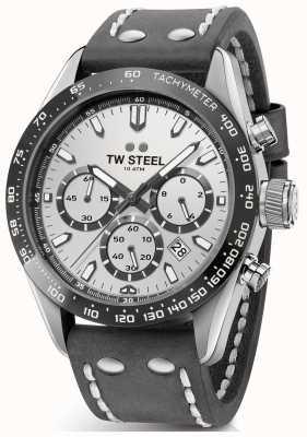 TW Steel | гентс темно-серый кожаный ремешок | серебряный циферблат | CHS3