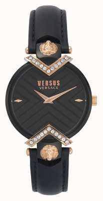 Versus Versace | женский черный кожаный ремешок | VSPLH1419