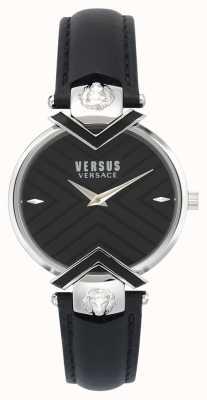 Versus Versace | женский черный кожаный ремешок | VSPLH0119